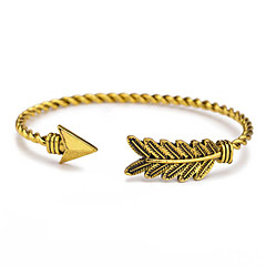 preiswerte Armbänder-Damen Armreife / Manschetten-Armbänder - Blattform Metallisch, Einfach, Retro Armbänder Gold / Silber Für Geschenk / Alltag / Strasse