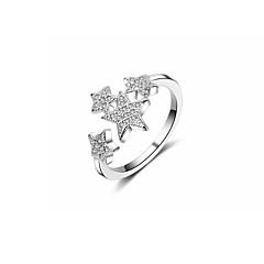preiswerte Ringe-Damen Kubikzirkonia Crossbody Bandring - Stern Koreanisch Verstellbar Silber Für Geschenk / Valentinstag