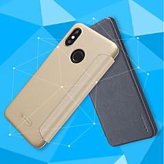 Недорогие Чехлы и кейсы для Xiaomi-Кейс для Назначение Xiaomi Mi 8 / Mi 8 SE Флип / Матовое Чехол Однотонный Твердый Кожа PU для Xiaomi Redmi S2 / Xiaomi Mi Mix 2S / Xiaomi Mi 8