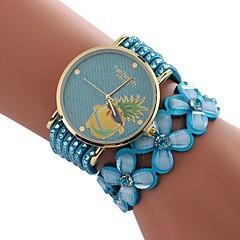 preiswerte Damenuhren-Xu™ Damen Kleideruhr / Armbanduhr Chinesisch Kreativ / Armbanduhren für den Alltag / Imitation Diamant PU Band Blume / Modisch Schwarz / Weiß / Blau / Großes Ziffernblatt / Ein Jahr