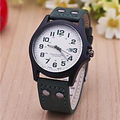 preiswerte Herrenuhren-L.WEST Herrn Armbanduhr Chinesisch Kalender / Armbanduhren für den Alltag Legierung Band Freizeit / Modisch Schwarz / Braun / Gelb