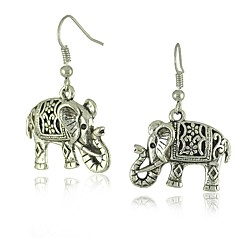 preiswerte Ohrringe-Damen 3D Tropfen-Ohrringe - Elefant Stilvoll, Klassisch Silber Für Alltag