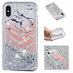 Недорогие Кейсы для iPhone 5-Кейс для Назначение Apple iPhone X / iPhone 8 Plus Движущаяся жидкость / С узором / Сияние и блеск Кейс на заднюю панель Сияние и блеск / Мрамор Мягкий ТПУ для iPhone X / iPhone 8 Pluss / iPhone 8