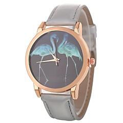preiswerte Damenuhren-Xu™ Damen Armbanduhr Chinesisch Kreativ / Armbanduhren für den Alltag / Großes Ziffernblatt PU Band Zeichentrick / Modisch Schwarz / Weiß / Blau / Ein Jahr