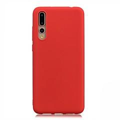 お買い得  Huawei Pシリーズケース/ カバー-ケース 用途 Huawei P20 Pro / P20 lite 超薄型 バックカバー ソリッド ソフト TPU のために Huawei P20 Pro / Huawei P20 lite / P8 Lite (2017)