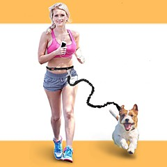 abordables Collares, Arneses y Correas para Perros-Perros / Gatos / Animales Pequeños de Pelo Correas Portátil / Mini / Entrenador Un Color Nailon Rojo / Azul / Negro