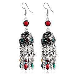preiswerte Ohrringe-Damen Diamant Quaste Tropfen-Ohrringe - Geometrisch, Quaste, Wa Regenbogen / Rot / Grün Für Abschluss / Valentinstag
