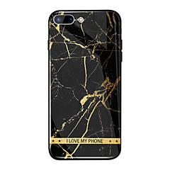 Недорогие Кейсы для iPhone-Кейс для Назначение Apple iPhone X / iPhone 8 Plus Зеркальная поверхность / С узором Кейс на заднюю панель Слова / выражения / Мрамор Твердый Закаленное стекло для iPhone X / iPhone 8 Pluss / iPhone 8