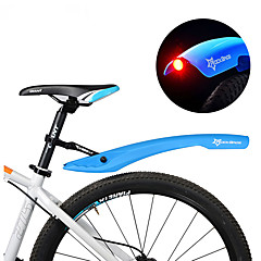 abordables Guardabarros para Bicicletas-Defensas Bike Bicicleta de Montaña Ajustable / Luces LED / Retráctil Plásticos - 2 pcs Rojo / Verde / Azul