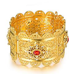 preiswerte Armbänder-Damen Skulptur Armreife Manschetten-Armbänder - vergoldet Ethnisch Armbänder Gold Für Party Geschenk