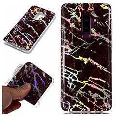 abordables Galaxy S3 Carcasas / Fundas-Funda Para Samsung Galaxy S9 Plus / S9 Cromado / IMD / Diseños Funda Trasera Mármol Suave TPU para S9 / S9 Plus / S8 Plus