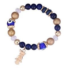 preiswerte Armbänder-Damen Glasperlen Strang-Armbänder - Eule Retro, Ethnisch, Modisch Armbänder Schwarz / Rot / Blau Für Party Zeremonie