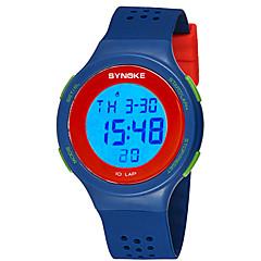 お買い得  レディース腕時計-SYNOKE 男性用 / 女性用 デジタルウォッチ カレンダー / クロノグラフ付き / 耐水 PU バンド ファッション ブラック / レッド / グレー
