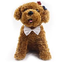 abordables Collares, Arneses y Correas para Perros-Perros / Gatos Corbata / Pajarita Pajarita / Lazo / Decoración Un Color / Lazo Tejido Rojo / Azul / Rosa