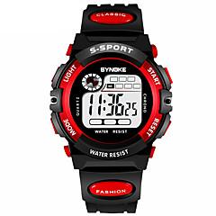 お買い得  メンズ腕時計-男性用 スポーツウォッチ / デジタルウォッチ カレンダー / クロノグラフ付き / 耐水 PU バンド ファッション ブラック