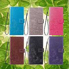Недорогие Чехлы и кейсы для Galaxy Note 3-Кейс для Назначение SSamsung Galaxy Note 9 / Note 8 Кошелек / Бумажник для карт / со стендом Чехол Мандала / Бабочка Твердый Кожа PU для Note 5 / Note 4 / Note 3