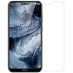 お買い得  Nokia 用スクリーンプロテクター-Nillkin スクリーンプロテクター のために Nokia Nokia X6 PET 1枚 フロント&カメラレンズプロテクター 超薄型 / マット / 傷防止