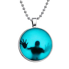Недорогие Ожерелья-Муж. Светящийся камень Длиные Ожерелья с подвесками - Креатив Мода Синий 60 cm Ожерелье 1шт Назначение Halloween, Для клуба