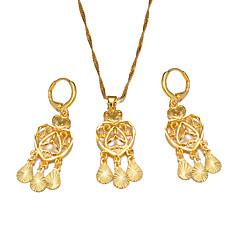 お買い得  ジュエリーセット-女性用 ジュエリーセット  -  ボヘミアンスタイル, ファッション 含める フープピアス / ペンダントネックレス ゴールド 用途 パーティー / 贈り物