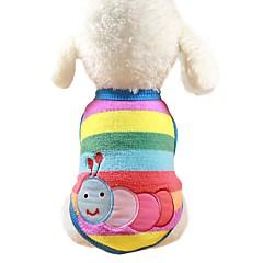 お買い得  犬用ウェア&アクセサリー-犬用 / 猫用 / 小型ペット用 スウェットシャツ / ジャンプスーツ 犬用ウェア 動物 / カートゥン / キャラクター ライトブルー / 虹色 / ストライプ コーラルフリース100% コスチューム ペット用 女性 スポーツ&アウトドア / カジュアル / スポーティ