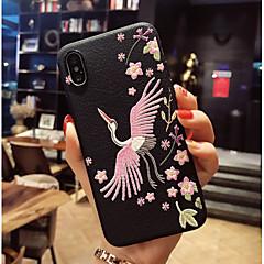 Недорогие Кейсы для iPhone X-Кейс для Назначение Apple iPhone X / iPhone 8 С узором Кейс на заднюю панель Фламинго Мягкий ТПУ для iPhone X / iPhone 8 Pluss / iPhone 8