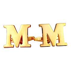 abordables Gemelos-Letra Plata / Dorado Gemelos Cobre Forma de Alfabeto Metálico / Formal Hombre Joyería de disfraz Para Regalo / Diario