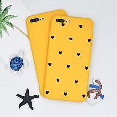 Недорогие Кейсы для iPhone 7 Plus-Кейс для Назначение Apple iPhone X / iPhone 8 Plus С узором Кейс на заднюю панель С сердцем / Мультипликация Мягкий ТПУ для iPhone X / iPhone 8 Pluss / iPhone 8