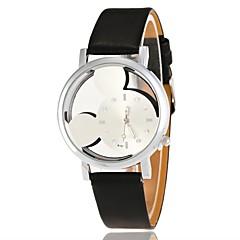 preiswerte Damenuhren-Damen Armbanduhr Chinesisch Armbanduhren für den Alltag / lieblich PU Band Zeichentrick / Modisch Schwarz / Weiß / Blau
