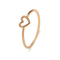 お買い得  指輪-女性用 ホロー 指輪 テールリング  -  合金 ハート スタイリッシュ, シンプル ゴールド / シルバー 用途 贈り物 日常 ストリート