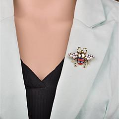 お買い得  ブローチ-女性用 3D ブローチ  -  ミツバチ カトゥーン, 欧風 ブローチ ゴールド 用途 パーティー / オフィス&キャリア