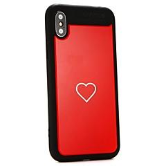 Недорогие Кейсы для iPhone 7 Plus-Кейс для Назначение Apple iPhone X / iPhone 8 Своими руками Кейс на заднюю панель С сердцем Твердый ТПУ для iPhone X / iPhone 8 Pluss / iPhone 8