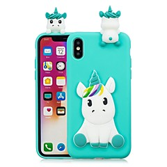 cheap iPhone Cases-Case For Apple iPhone X / iPhone 8 Plus DIY Back Cover Unicorn Soft TPU for iPhone X / iPhone 8 Plus / iPhone 8