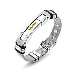 preiswerte Armbänder-Herrn Gliederkette Ketten- & Glieder-Armbänder Armreife ID Armband - Edelstahl Modisch, Beiläufig / sportlich Armbänder Silber Für Geschenk Alltag