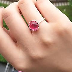 お買い得  指輪-女性用 彫刻オブジェ 指輪  -  樹脂 フラワー シンプル, 甘い グリーン / ピンク 用途 日常