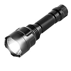 Χαμηλού Κόστους -ismartdigi i-8T6 LED Flashlight Φακοί LED Φορητά / Αντιολισθητικό Κατασκήνωση / Πεζοπορία / Εξερεύνηση Σπηλαίων / Καθημερινή Χρήση / Κυνήγι Μαύρο