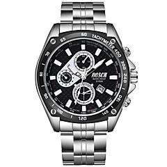 お買い得  メンズ腕時計-BOSCK 男性用 リストウォッチ クォーツ 30 m 耐水 カレンダー 新デザイン ステンレス バンド ハンズ ファッション シルバー - ホワイト ブラック ブルー / 夜光計