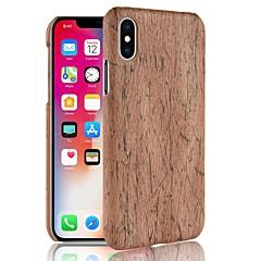 Недорогие Кейсы для iPhone 7 Plus-Кейс для Назначение Apple iPhone X / iPhone 8 С узором Кейс на заднюю панель Имитация дерева Твердый ПК для iPhone X / iPhone 8 Pluss / iPhone 8