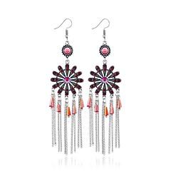 preiswerte Ohrringe-Damen Kristall Quaste Tropfen-Ohrringe - Künstlerisch, Britisch, Mehrfarbig Rot / Grün / Blau Für Verlobung / Karnival