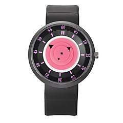 preiswerte Herrenuhren-Herrn Damen Sportuhr Quartz Armbanduhren für den Alltag Caucho Band Analog Freizeit Schwarz - Blau Rosa Schwarz / Gelb