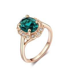 preiswerte Ringe-Damen Kristall Ring - Rose Gold überzogen, Aleación 5 / 6 / 7 / 8 / 9 Grün Für Geschenk Karnival