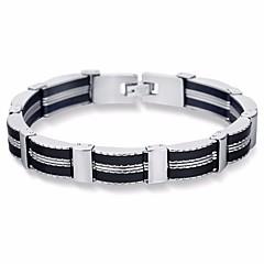 preiswerte Armbänder-Herrn Stilvoll Gliederkette Ketten- & Glieder-Armbänder Breites Armband - Titanstahl Kreativ Stilvoll, Einfach, Klassisch Armbänder Schwarz Für Strasse Ausgehen