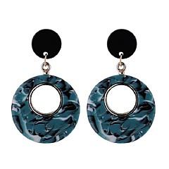 preiswerte Ohrringe-Damen Synthetischer Tansanit Lang Tropfen-Ohrringe - Kreativ Retro, Modisch Kaffee / Grün / Blau Für Party / Abend / Abiball