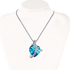 preiswerte Halsketten-Damen 3D Anhängerketten - Diamantimitate Herz Stilvoll, Klassisch Gold, Silber 27 cm Modische Halsketten Schmuck 1pc Für Alltag