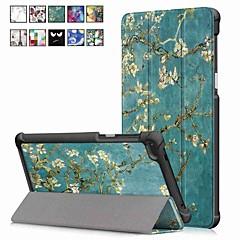 Недорогие Чехлы и кейсы для Lenovo-Кейс для Назначение Lenovo Tab 7 со стендом / Магнитный Чехол Масляный рисунок Твердый Кожа PU для Lenovo Tab 7