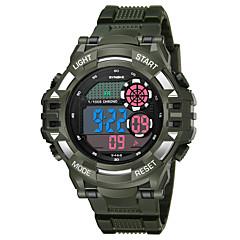 お買い得  メンズ腕時計-SYNOKE 男性用 スポーツウォッチ デジタルウォッチ デジタル 50 m 耐水 カレンダー クロノグラフ付き PU バンド デジタル ファッション ブラック / 白 / ネービー - ブラック ダークブルー ダークグリーン / 夜光計