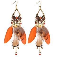 preiswerte Ohrringe-Damen Lang Tropfen-Ohrringe - Europäisch, Modisch, Hyperbel Orange Für Maskerade Festtage