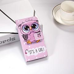 Недорогие Кейсы для iPhone 7-Кейс для Назначение Apple iPhone X / iPhone 8 Plus / iPhone XS Кошелек / со стендом / Флип Чехол Сова Твердый Кожа PU для iPhone XS / iPhone XR / iPhone XS Max