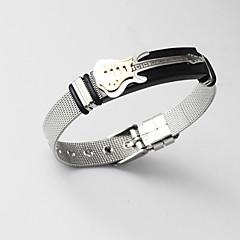 abordables Bijoux pour Femme-Homme Classique Stylé Manchettes Bracelets Loom Bracelet Bracelet Chaîne - Dorage 18K, Inoxydable Créatif, Guitare Large, Original, Mode Bracelet Or Pour Cadeau Quotidien / Bracelet Figaro