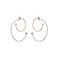 preiswerte Ohrringe-Damen Synthetischer Tansanit Lang Tropfen-Ohrringe - Kreativ Ethnisch, Modisch Silber Für Party / Abend / Geburtstag