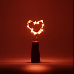 preiswerte Ausgefallene LED-Beleuchtung-BRELONG® 1pc Weinflaschenverschluss LED-Nachtlicht Warmes Weiß / Weiß / Rot Knopf Batteriebetrieben Kreativ / Heimsicherheit / Romantisch <5 V